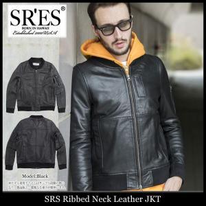エスアールエス SRES ジャケット メンズ リブド ネック レザー(SRS Ribbed Neck Leather JKT 本革 アウター ブルゾン JKT00646)|icefield