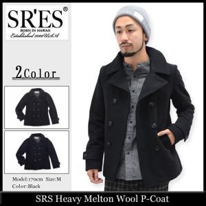 エスアールエス SRES ジャケット メンズ ヘビー メルトン ウール ピーコート(SRS Heavy Melton Wool P-Coat アウター ブルゾン) icefield