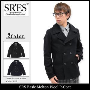 エスアールエス SRES ジャケット メンズ ベーシック メルトン ウール ピーコート(SRS Basic Melton Wool P-Coat アウター ブルゾン) icefield