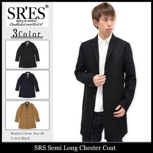 エスアールエス SRES ジャケット メンズ セミロング チェスターコート(SRS Semi Long Chester Coat アウター)|icefield