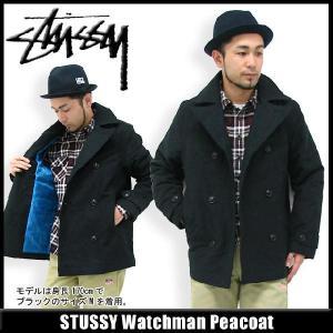 ステューシー STUSSY Watchman ピーコート(stussy peacoat jkt Pコート メンズ 男性用 0150068) icefield