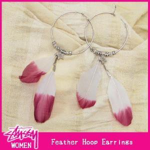 ステューシー STUSSY ウーマンズ Feather Hoop イヤリング(stussy earring ピアス ガールズ レディース ウィメンズ ladies Ladys WOMENS 0380188)|icefield