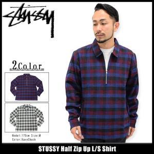 ステューシー STUSSY シャツ 長袖 メンズ Half Zip Up(stussy shirt カジュアルシャツ トップス 男性用 111882)|icefield
