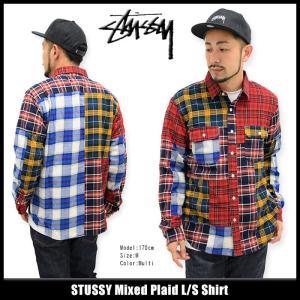 ステューシー STUSSY シャツ 長袖 メンズ Mixed Plaid(stussy shirt パッチワーク カジュアルシャツ トップス 男性用 111884)|icefield