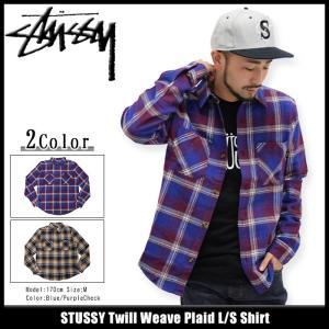 ステューシー STUSSY シャツ 長袖 メンズ Twill Weave Plaid(stussy shirt カジュアルシャツ トップス 男性用 111898)|icefield