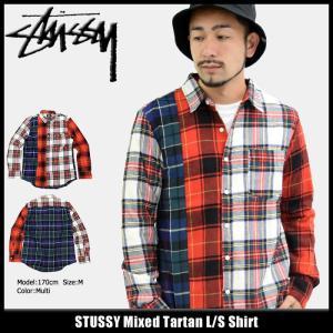 ステューシー STUSSY シャツ 長袖 メンズ Mixed Tartan(stussy shirt タータンチェック カジュアルシャツ トップス 男性用 111933)|icefield