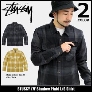 ステューシー STUSSY シャツ 長袖 メンズ 17F Shadow Plaid(stussy shirt チェック カジュアルシャツ トップス 男性用 111934)|icefield