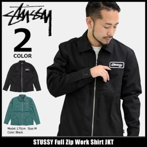 ステューシー STUSSY ジャケット メンズ Full Zip Work Shirt(stussy JKT フルジップ シャツジャケット アウター 男性用 111947)|icefield