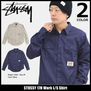 ステューシー STUSSY シャツ 長袖 メンズ 17H Work(stussy shirt ワークシャツ カジュアルシャツ トップス 男性用 111948)|icefield