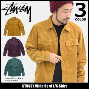 ステューシー STUSSY シャツ 長袖 メンズ Wide Cord(stussy shirt コーデュロイ カジュアルシャツ トップス 男性用 111951)|icefield