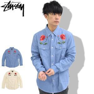 ステューシー STUSSY シャツ 長袖 メンズ Poppy Denim(stussy shirt デニム カジュアルシャツ トップス 男性用 111952)|icefield