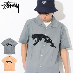 ステューシー STUSSY シャツ 半袖 メンズ Panther(stussy shirt オープンカラーシャツ トップス 男性用 111974 USAモデル 正規)