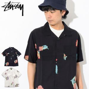 ステューシー STUSSY シャツ 半袖 メンズ Hana Printed(stussy shirt オープンカラーシャツ トップス 男性用 111987 USAモデル 正規)