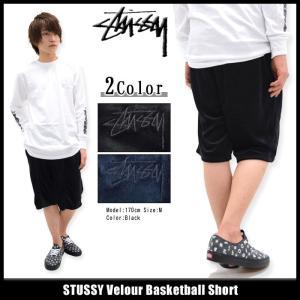 ステューシー STUSSY ハーフパンツ メンズ Velour Basketball(stussy short pant ショーツ ボトムス メンズ・男性用 112179)|icefield