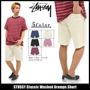 ステューシー STUSSY ハーフパンツ メンズ Classic Washed Gramps(stussy short pant ショートパンツ ボトムス 男性用 112182)|icefield