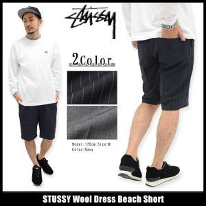 ステューシー STUSSY ハーフパンツ メンズ Wool Dress Beach(stussy short pant ショートパンツ ボトムス 男性用 112193)|icefield