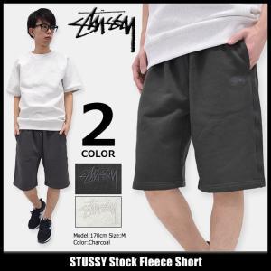 ステューシー STUSSY ハーフパンツ メンズ Stock Fleece(stussy short pant スウェットショーツ ボトムス 男性用 112200)|icefield