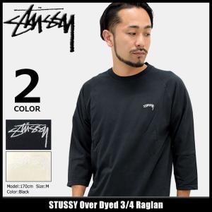 ステューシー STUSSY ラグラン 七分袖 メンズ Over Dyed(stussy raglan カットソー トップス 7分袖 男性用 1140003)|icefield