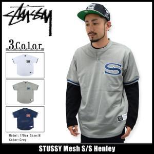 ステューシー STUSSY カットソー 半袖 メンズ Mesh(stussy henley ヘンリーネック トップス メンズ・男性用 114822)|icefield