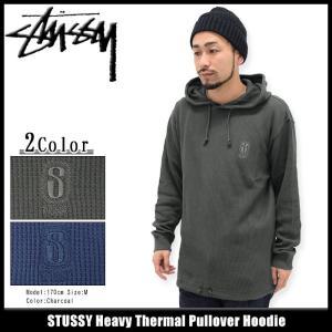 ステューシー STUSSY プルオーバー パーカー メンズ Heavy Thermal(stussy Pullover Hoodie サーマル トップス 男性用 114953)|icefield