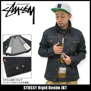 ステューシー STUSSY Rigid Denim ジャケット(stussy JKT JACKET JAKET アウター メンズ 115169)|icefield