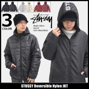 ステューシー STUSSY ジャケット メンズ Reversible Nylon(stussy JKT リバーシブル 中綿 アウター ブルゾン 男性用 115371)