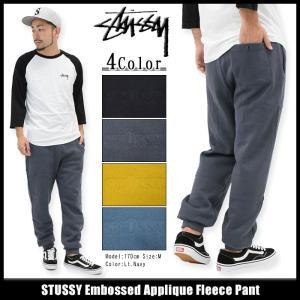 ステューシー STUSSY パンツ メンズ Embossed Applique(stussy Sweat Pant スウェットパンツ ボトムス 男性用 116295)|icefield