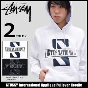 ステューシー STUSSY プルオーバー パーカー メンズ International Applique(stussy Pullover Hoodie トップス 男性用 118230)|icefield