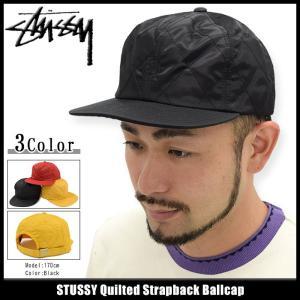 ステューシー STUSSY キャップ 帽子 Quilted Strapback Cap(ストラップバック メンズ・男性用 131623)|icefield