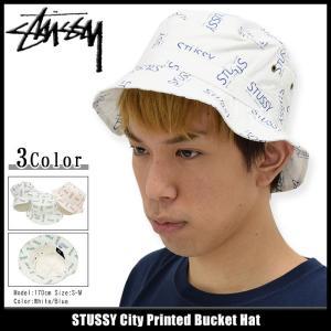 ステューシー STUSSY バケット ハット City Printed Bucket Hat 帽子(stussyhat メンズ・男性用 132765) icefield