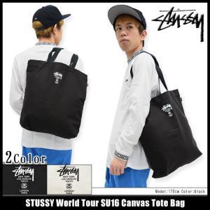 ステューシー STUSSY トートバッグ World Tour SU16 Canvas(stussy tote bag エコバッグ 男性用 134160 小物)|icefield