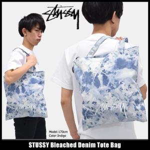 ステューシー STUSSY トートバッグ Bleached Denim(stussy tote bag メンズ レディース 134166 小物)|icefield