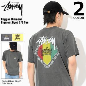 ステューシー STUSSY Tシャツ メンズ Reggae Diamond Pigment Dyed 1904084