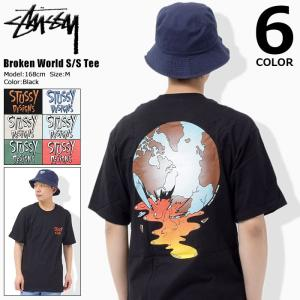 ステューシー STUSSY Tシャツ メンズ Broken World 1904182