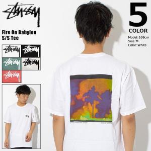 ステューシー STUSSY Tシャツ メンズ Fire On Babylon 1904184