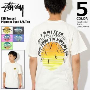 ステューシー Tシャツ STUSSY メンズ LSD Sunset Pigment Dyed 190...