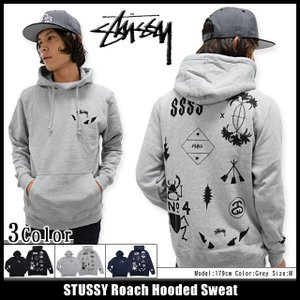 ステューシー STUSSY プルオーバー パーカー メンズ Roach(stussy hooded sweat フード フーディ メンズ トップス 男性用 1923698)|icefield