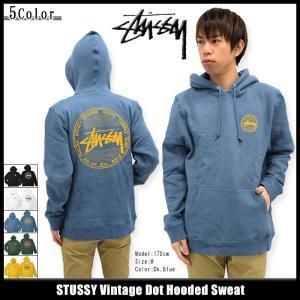 ステューシー STUSSY プルオーバー パーカー メンズ Vintage Dot(stussy hooded sweat トップス 男性用 1923979)|icefield