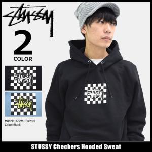 ステューシー STUSSY プルオーバー パーカー メンズ Checkers(stussy hooded sweat トップス 男性用 1924145)|icefield