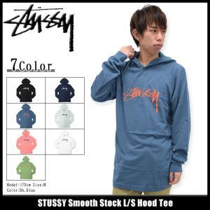 ステューシー STUSSY カットソー 長袖 メンズ Smooth Stock(stussy Hood Tee トップス ロンt フード付きTシャツ 男性用 1983995)|icefield