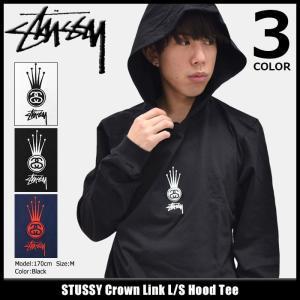 ステューシー STUSSY カットソー 長袖 メンズ Crown Link(stussy Hood Tee トップス ロンt フード付きTシャツ 男性用 1984046)|icefield