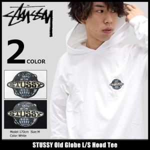 ステューシー STUSSY カットソー 長袖 メンズ Old Globe(stussy Hood Tee トップス ロンt フード付きTシャツ 男性用 1984047)|icefield