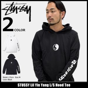 ステューシー STUSSY カットソー 長袖 メンズ Lil Yin Yang(stussy Hood Tee トップス ロンt フード付きTシャツ 男性用 1984094)|icefield