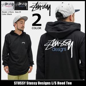 ステューシー STUSSY カットソー 長袖 メンズ Stussy Designs(stussy Hood Tee トップス フード付きTシャツ 男性用 1984095)|icefield