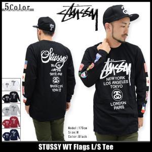 ステューシー STUSSY Tシャツ 長袖 メンズ WT Flags(stussy tee T-SHIRTS カットソー トップス ロンt メンズ・男性用 1993693)|icefield