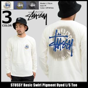 ステューシー STUSSY Tシャツ 長袖 メンズ Basic Swirl Pigment Dyed(stussy tee カットソー トップス ロンt 男性用 1994123) icefield