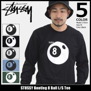 ステューシー STUSSY Tシャツ 長袖 メンズ Bootleg 8 Ball(stussy tee カットソー トップス ロンt 男性用 1994133)|icefield