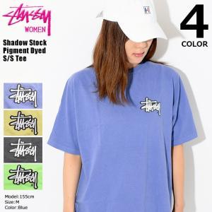 ステューシー STUSSY Tシャツ 半袖 レディース WOMEN Shadow Stock Pig...