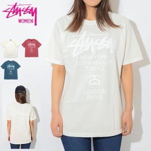ステューシー Tシャツ 半袖 STUSSY レディース WOMEN World Tour Pigme...