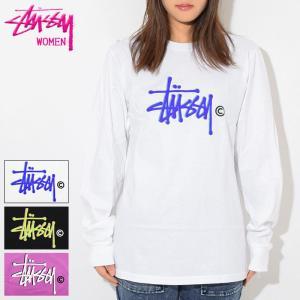 ステューシー Tシャツ 長袖 STUSSY レディース WOMEN Basic Logo(stuss...